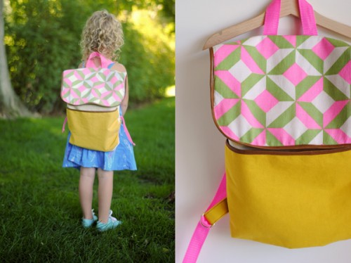 back to school backpack (via hartandsew)