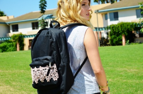 lace backpack (via mrkate)