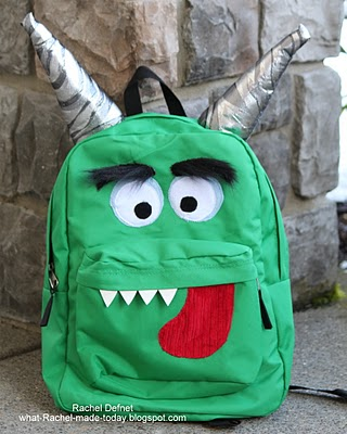 monster bacpack (via what-rachel-made-today)