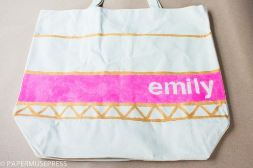 personalized tote (via papermusepress)