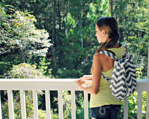 chevron backpack (via trashtocouture)