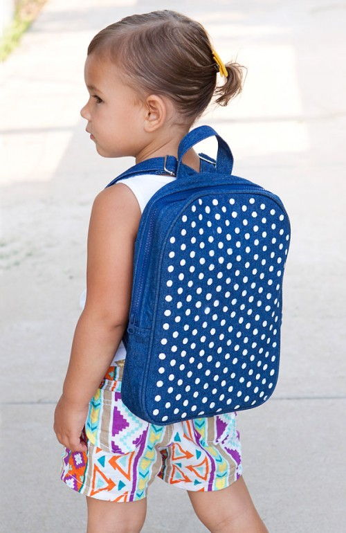 polka dot backpack (via hellobee)