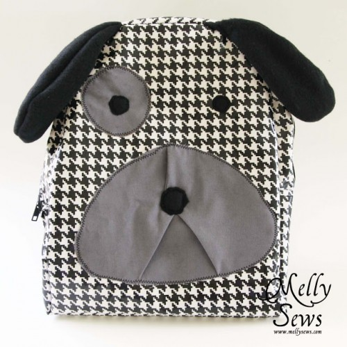 hound dog backpack (via mellysews)