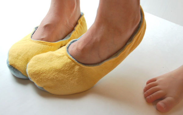 comfy sewn slippers
