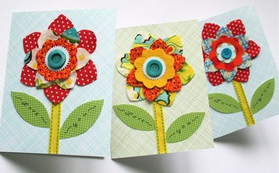 colorful flower card (via mmmcrafts)