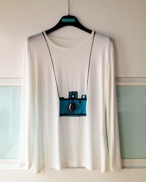 camera T-shirt (via planb)
