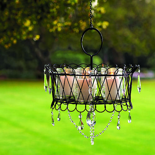 mason jars outdoor chandelier (via shelterness)
