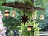 rustic ladder outdoor chandelier