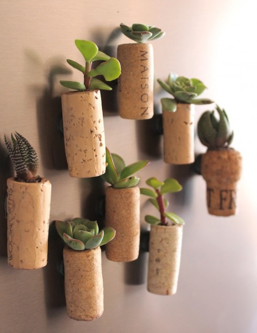 mini magnet cork garden (via shelterness)