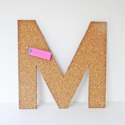cork letter tack board (via blissbloomblog)