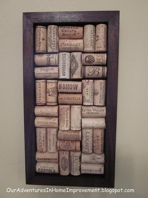 wine cork wall art (via shelterness)