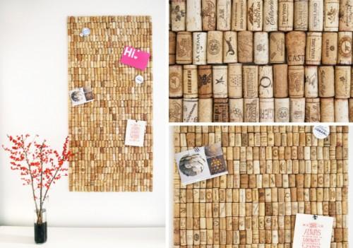 cork wall organizer (via the3rsblog)