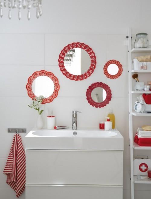 doily mirrors (via homestory)