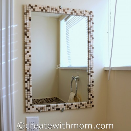 Diy Bathroom Mirror Decoration Diy Mirror Frame Tile Gorgeous
