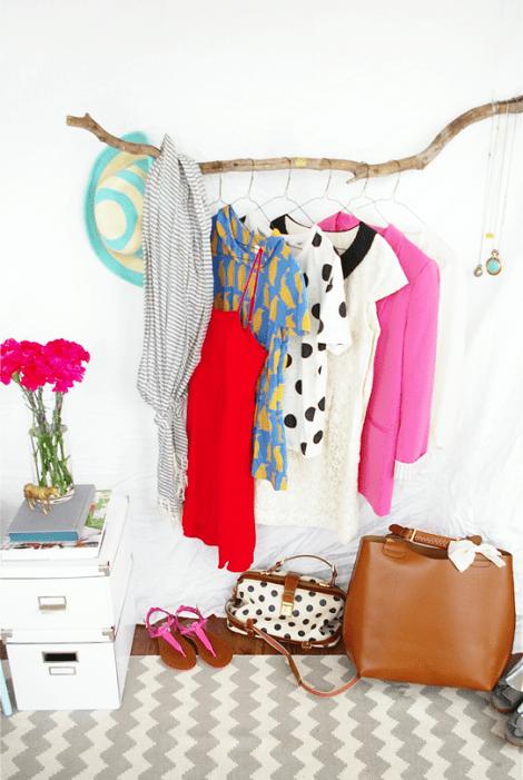 branch clothing rack (via sugarandcloth)