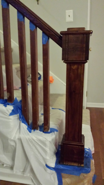 staining a banister (via cobaltshouse)