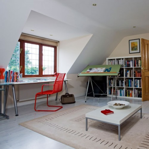 20 Trendy Ideas For A Home Office With Skylights: 21 Cool Attic Home Office Design Ideas