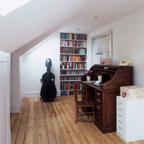 11 Cool Home Office Ideas For Men: 21 Cool Attic Home Office Design Ideas