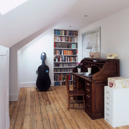 picture of cool attic home office design ideas attic office ideas