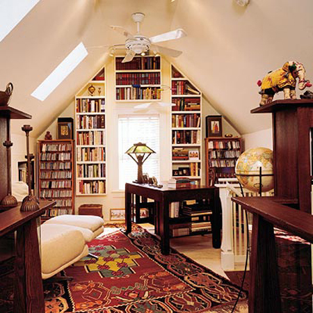 Picture of cool attic home office design ideas for Cool home office designs