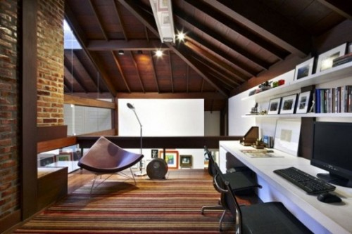 Attractive Cool Attic Home Office Design Ideas