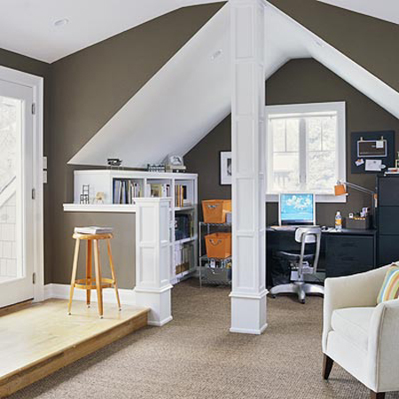 21 cool attic home office design ideas shelterness for Cool office designs