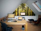 Cool Attic Home Office Design Ideas