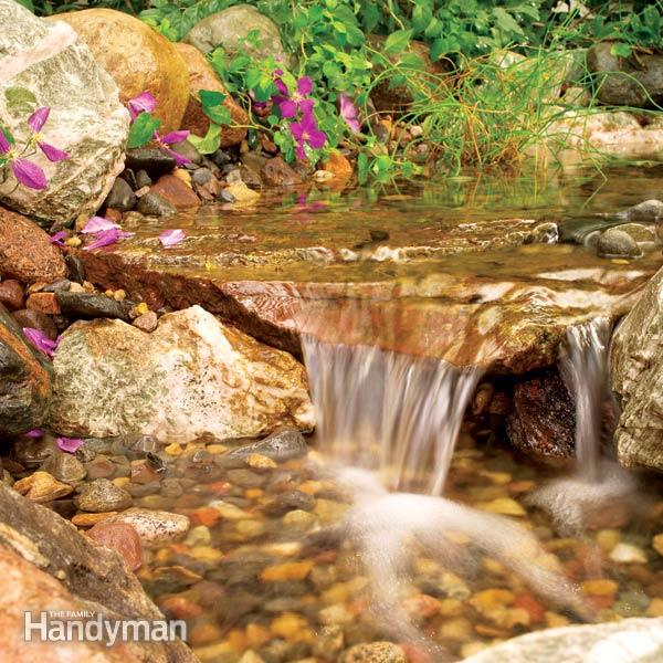 waterfall with a stream
