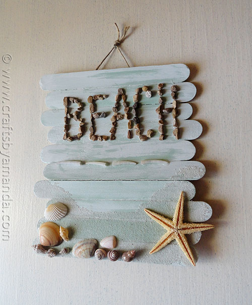 stick beach plaque (via craftsbyamanda)