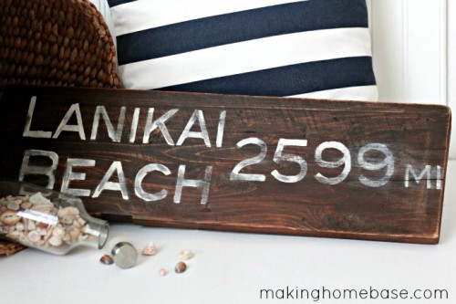 recycled wood sign (via makinghomebase)