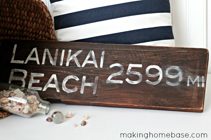 recycled wood sign
