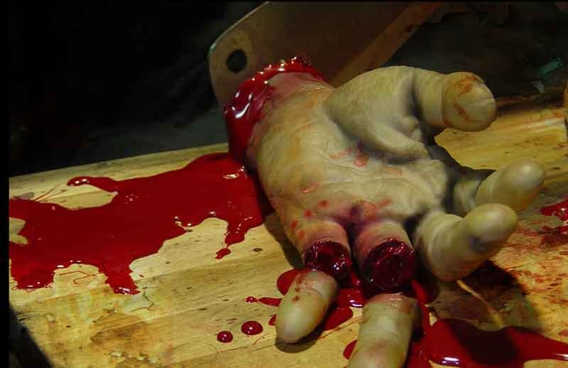 bloody cutting board
