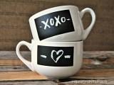 xoxo chalkboard mugs