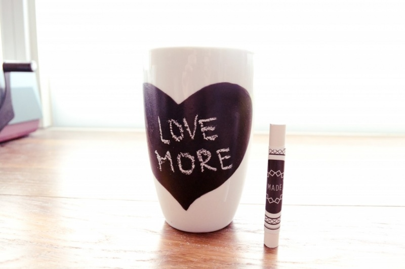 chalkboard mug for you and your lover