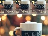 patterned chalkboard mugs