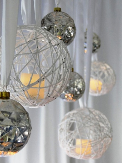 25 cool ideas to make christmas chandeliers shelterness christmas candle chandelier via homeandgarden mozeypictures Image collections