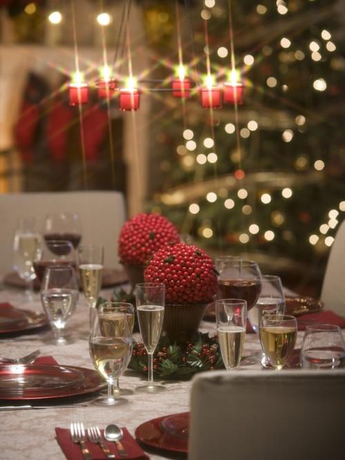 Sparkling Christmas Chandelier (via hgtv)