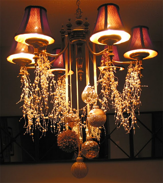 Picture Of Cheerful Christmas Chandelier