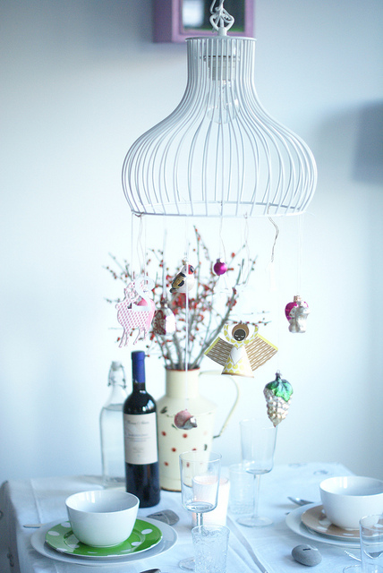 Minimalist Christmas chandelier
