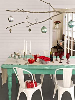 Tree branch Christmas chandelier