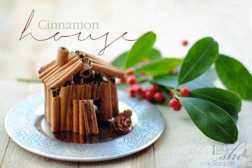 Christmas cinnamon house