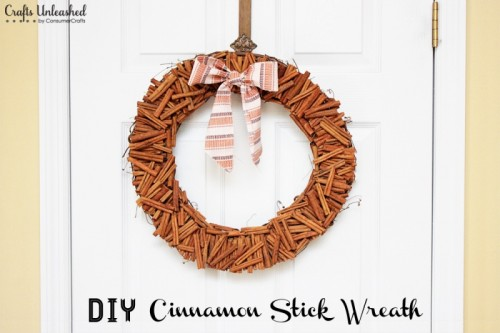 glued cinnamon sticks wreath (via craftsunleashed)