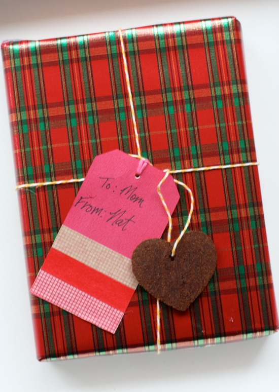 cinnamon ornaments and gift tags