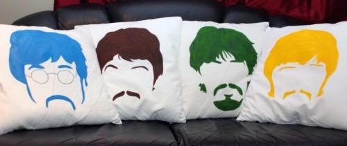 Cool Colorful Diy Beatles Pillows