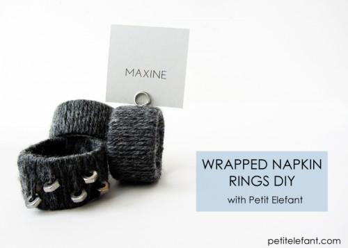 cozy yarn napkin rings (via shelterness)