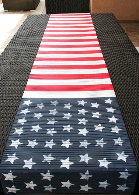 flag table runner (via blissbloomblog)