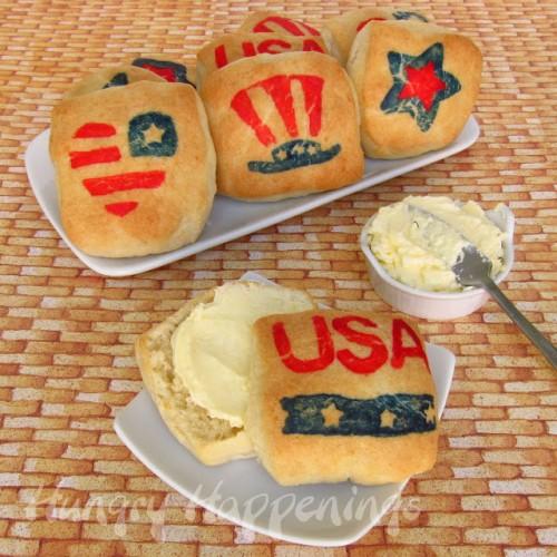 patriotic biscuits (via hungryhappenings)