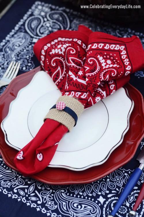 patriotic red napkin (via uncommondesignsonline)
