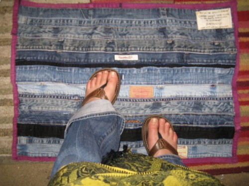denim floor mat (via instructables)