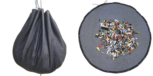 denim playmat bag (via justcraftyenough)